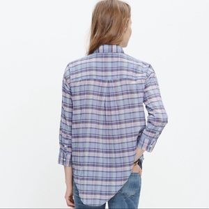 Madewell Madras button down shirt
